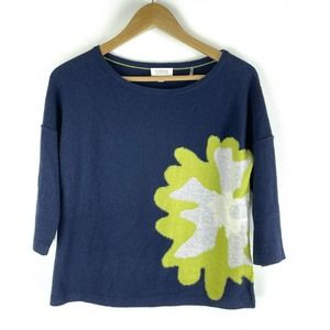 Kinross Cashmere Sweater Floral Size S